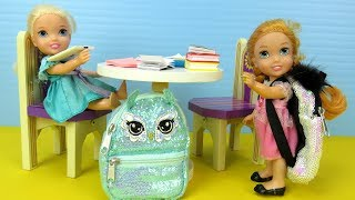 STOP wasting time ! Elsa and Anna toddlers - homework - evening routine - dinner