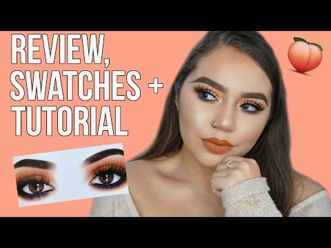KYLIE COSMETICS ROYAL PEACH PALETTE   REVIEW. SWATCHES & TUTORIAL