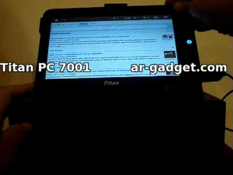 Review Tablet Titan 7001 en español