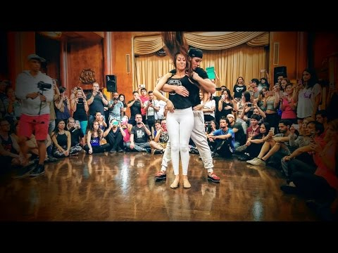Bruno Galhardo and Stephany Estrin - Zouk Demo - 2016 Los Angeles Zouk Congress