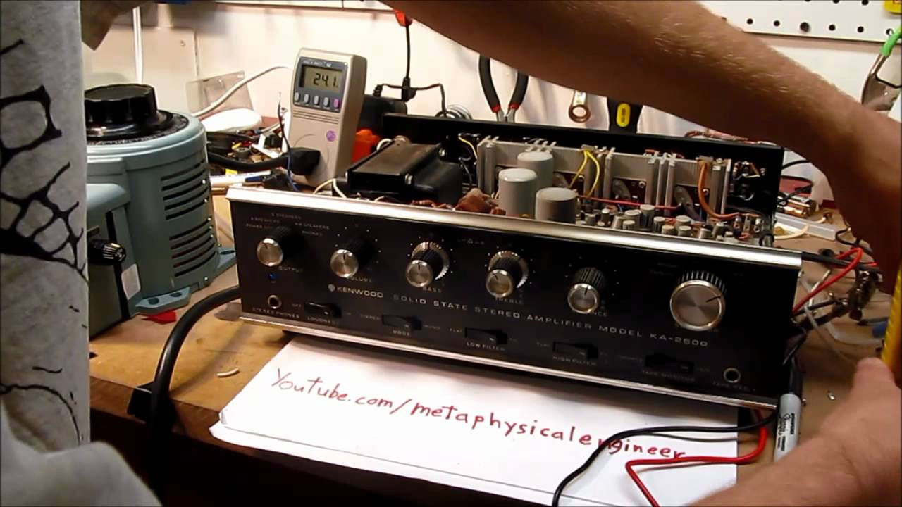 Kenwood KA-2500 mains wiring upgrade - YouTube