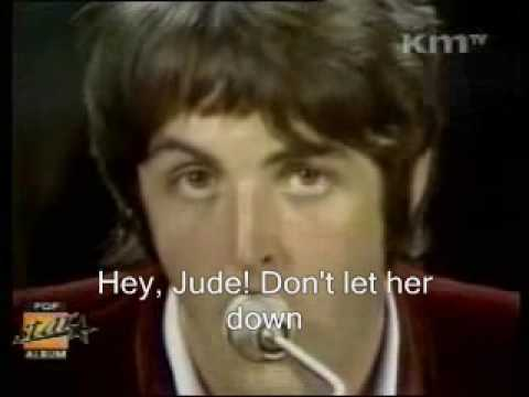 The Beatles - Hey Jude (video with lyrics)