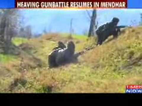 Poonch encounter underway  heavy gun battle resumes in India