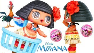 Moana Disney DIY Custom Painting Barbie Craft Video + LOL Surprise Baby Punk Boi!