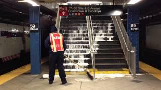 MTA - Power Washing at 59th St - Columbus Circle