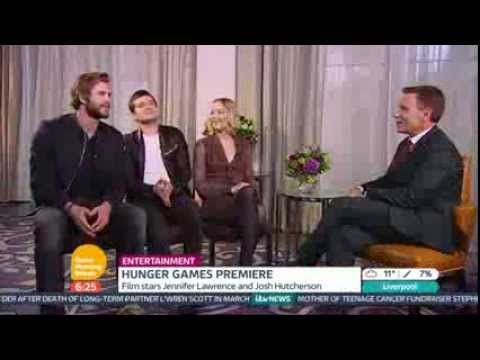 Jennifer Lawrence, Josh Hutcherson & Liam Hemsworth on Good Morning Britain