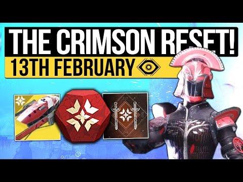 Destiny 2 | CRIMSON DAYS RETURNS! New Event Loot, Weekly Reset &Eververse Stock! (13th February)