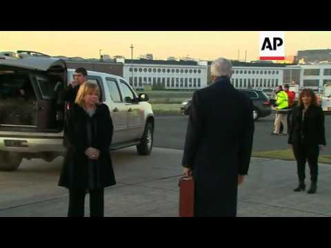 US Secretary of State John Kerry arrives for NATO summit