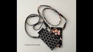 CROSS BODY CELLPHONE POUCH...HOW TO