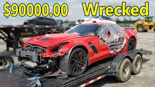 Rebuilding a Wrecked 2016 Corvette Z06 | Better Deal Than Copart!