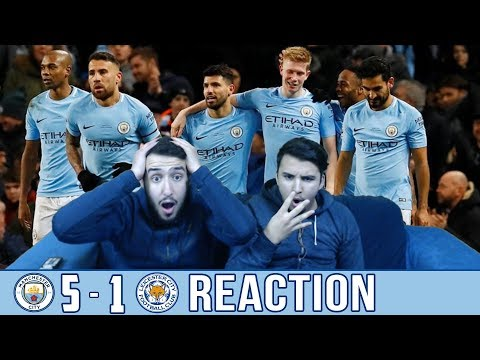 BARCA & MADRID FANS REACT TO: MAN CITY 5-1 WIN OVER LEICESTER - REACTION