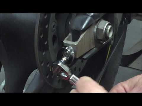 How to use a crow's foot wrench adapter. Demo done on Yamaha R6 chain adjuster nut.