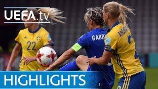 Women's EURO highlights: Sweden 2-3 Italy