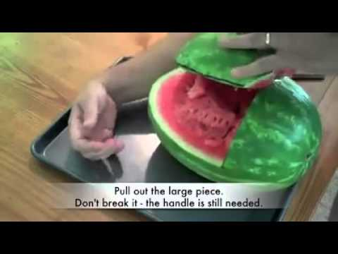 How To Carve A Watermelon Baby Carriage   Interesting Things