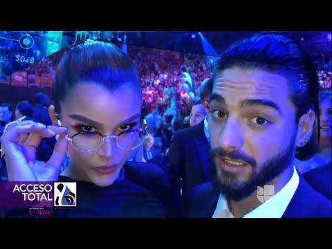 Clarissa Molina estuvo espiando a varios famosos durante comerciales en Premio Lo Nuestro