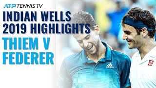 Dominic Thiem Beats Federer, Wins First Masters 1000 Title! | Indian Wells 2019 Final Highlights