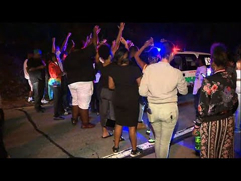 Raw: PA Police Shooting Protest Blocks Highway