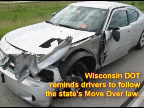 Dashcam video from a Wisconsin State Patrol cruiser showing a close call. Wisconsin DOT reminds drivers to follow the state's Move Over law. The truck driver...