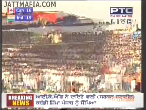 First Kabaddi World Cup 2010 Canada  Vs India  Part 3  By Jattmafia 10th April Semi Final video