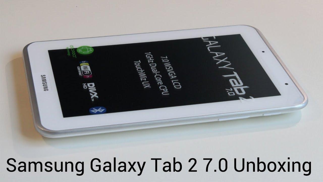 samsung galaxy tab 2 7 0 unboxing   youtube