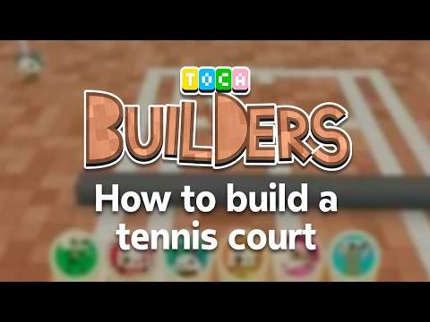 Toca Builders App Walkthrough : How to build a tennis court in Toca Builders