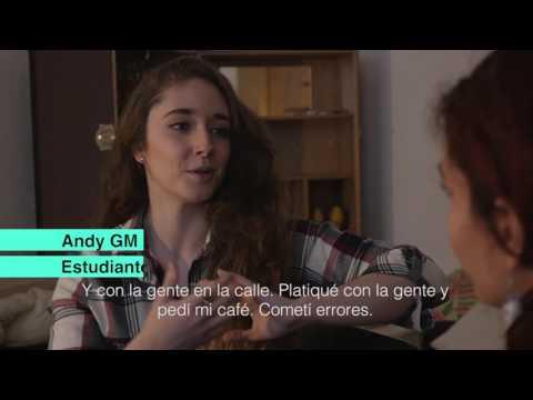Tamara aprende alemán con Andy GM en Berlín