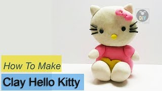 How to make Clay Hello Kitty