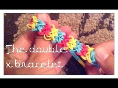 How to make the double x rainbow loom bracelet