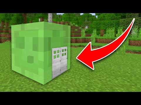 How to Live Inside a Slime in Minecraft! (Pocket Edition, PS4, Xbox, Switch)