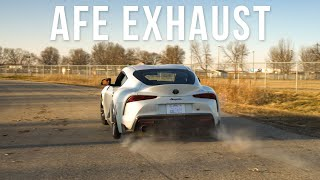 AFE Catback Exhaust A90 Supra | Just Sound