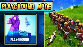 "*NEW* ""PLAYGROUND"" MODE IS HERE! Gameplay Details! (NEW LTM) Fortnite Update"