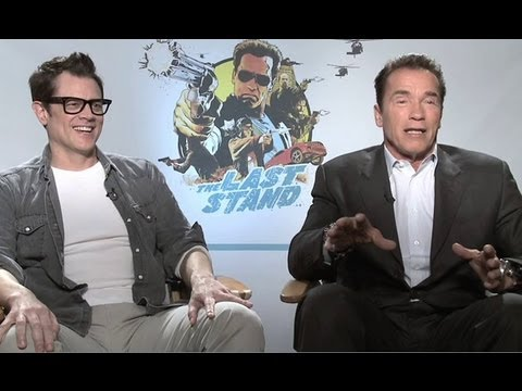 Arnold Schwarzenegger & Johnny Knoxville Interview - The Last Stand (HD)