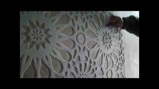 Гипсовый рельеф , картины . Wall sculpture.