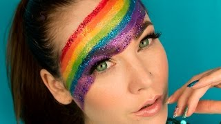 Celebrating Gay Pride Rainbow make up