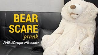 Pranking Adult Film Star Monique Alexander With Giant Bear