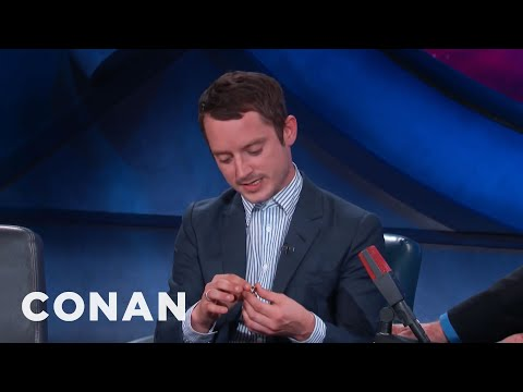 Elijah Wood Shows Off The One Ring  - CONAN on TBS