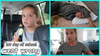 Our first day of school went wrong| SISTERFOREVERVLOGS #565