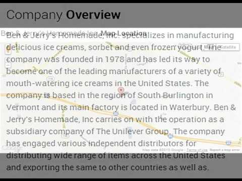 Ben & Jerry's Homemade Inc Corporate Office Contact Information