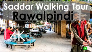 4K Walk through Saddar Rawalpindi, Pakistan, 2020