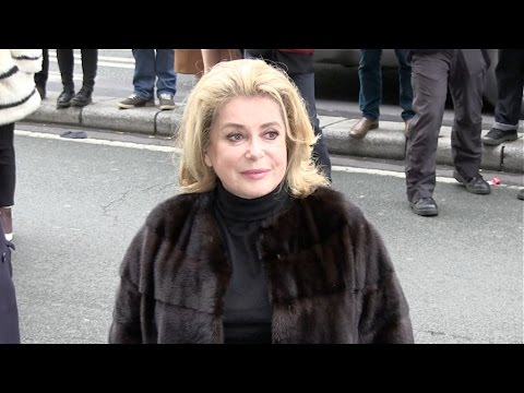 Catherine Deneuve and more at Jean Paul Gaultier Fashion Show in Paris