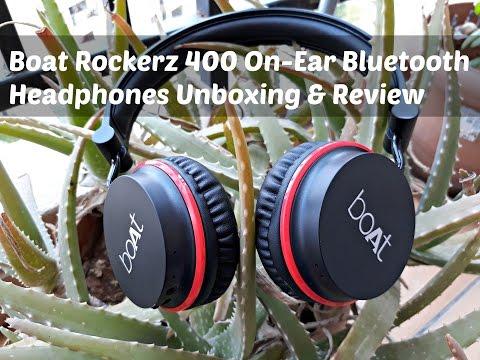 Boat Rockerz 400 On-Ear Bluetooth Headphones(RED) | Best budget Bluetooth Headphones