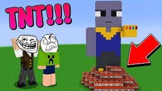 Minecraft: TROLLEI MEU AMIGO EXPLODINDO A CONSTRUÇÃO DELE COM TNT!