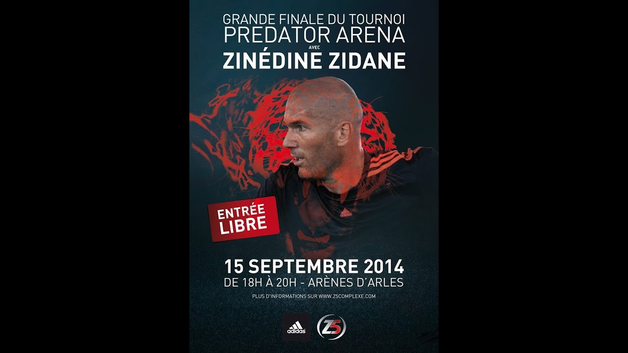 "Debut du ""Predator Arena"" organis� par Zinedine Zidane - YouTube"