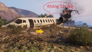 GTA 5 Việt Hóa #4 Ngoại Truyện Phi Vụ Làm Không Tặc Cướp Vali Tiền Trên Máy Bay Giữa Michael -Trevor