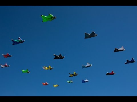 FAI Italian Wingsuit Record 360 Video