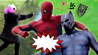 GAME OVER! DARK SPIDERMAN CHALLENGES BLACK PANTHER...SUPERHERO REACTS to POWERS OF DARKNESS!