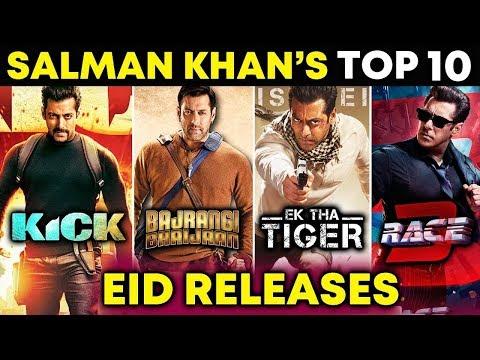 Salman Khan's T0P 10 EID Releases | Race 3, Bajrangi Bhaijaan, Kick, Ek Tha Tiger... thumbnail