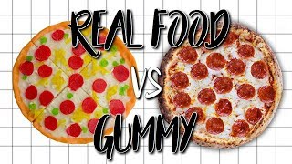 Making FOOD out of CANDY!!! REAL FOOD VS GUMMY CHALLENGE!!!