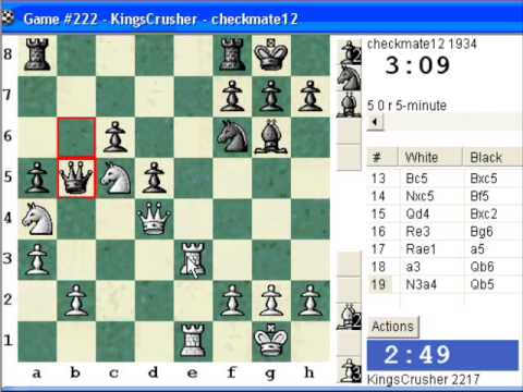 Chessworld.net : Blitz #298 vs. checkmate12 (1934) - Sicilian Defense : Marshall variation (B41)