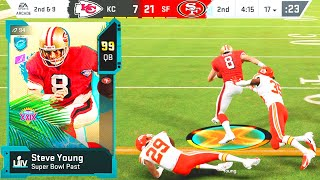 99 OVERALL STEVE YOUNG IN THE SUPERBOWL! Madden 20 Ultimate Team Ep.55